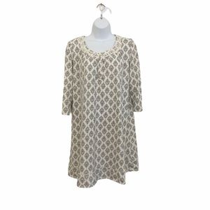 Aria 3/4 Sleeve Short Nightgown size M